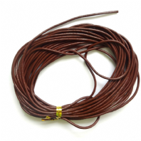 5M Brown Genuine Leather 1.5mm Cord